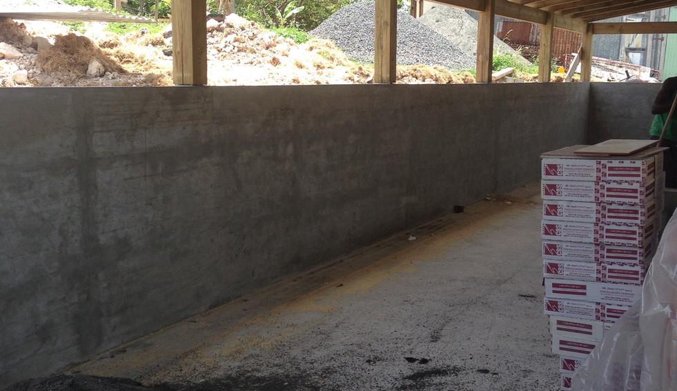 Agencement d'une terrasse - étape travaux - Guadeloupe