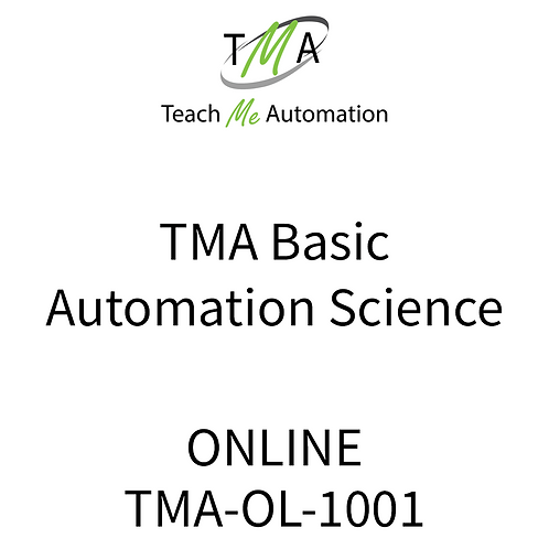 TMA Basic Automation Science Course  - Online w/online Quizzes & Exam