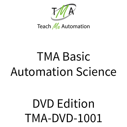 TMA Basic Automation ScienceCourse - DVD Edition w/online Quizzes & Exam