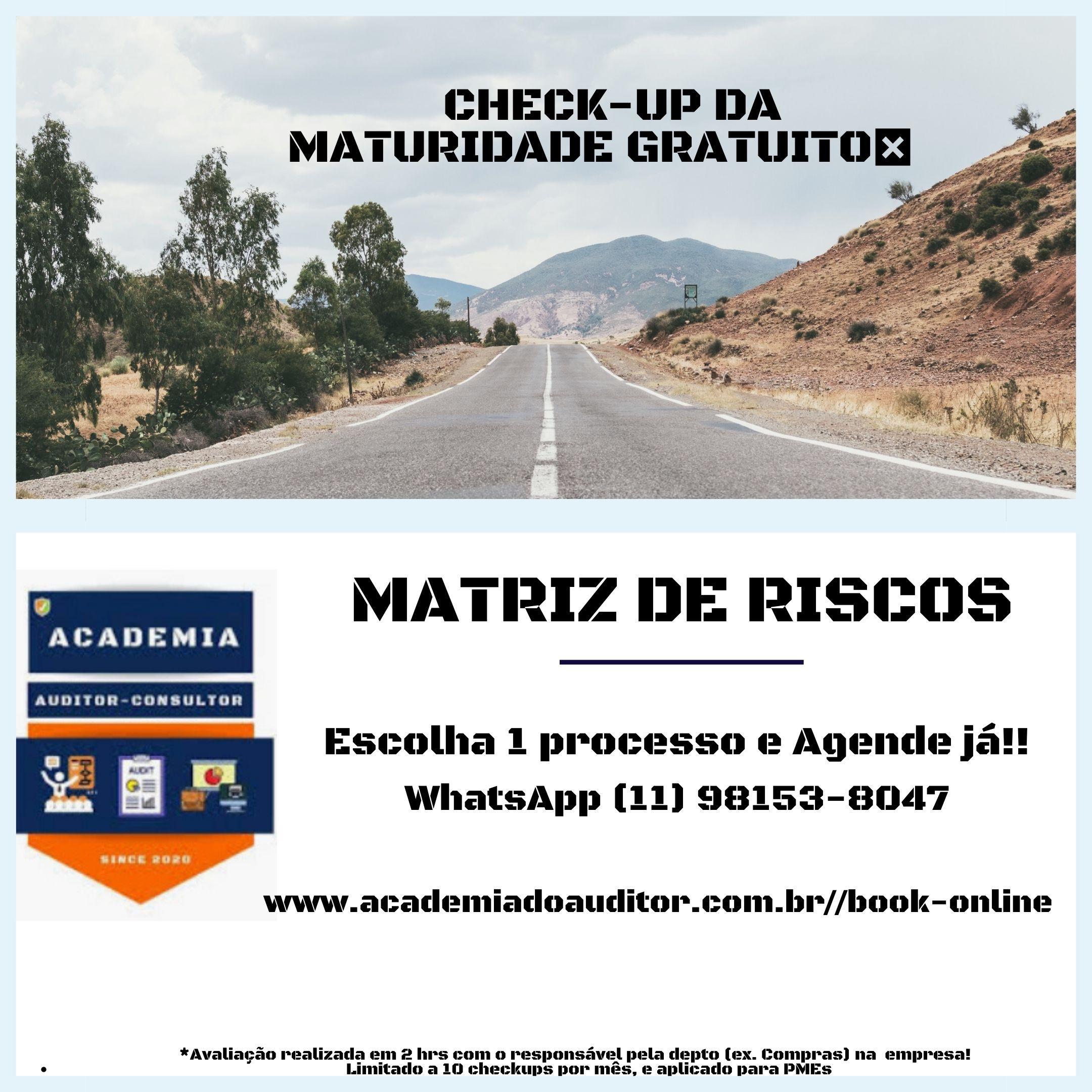 CHECK-UP MATRIZ DE RISCOS 1 ÁREA GRÁTIS
