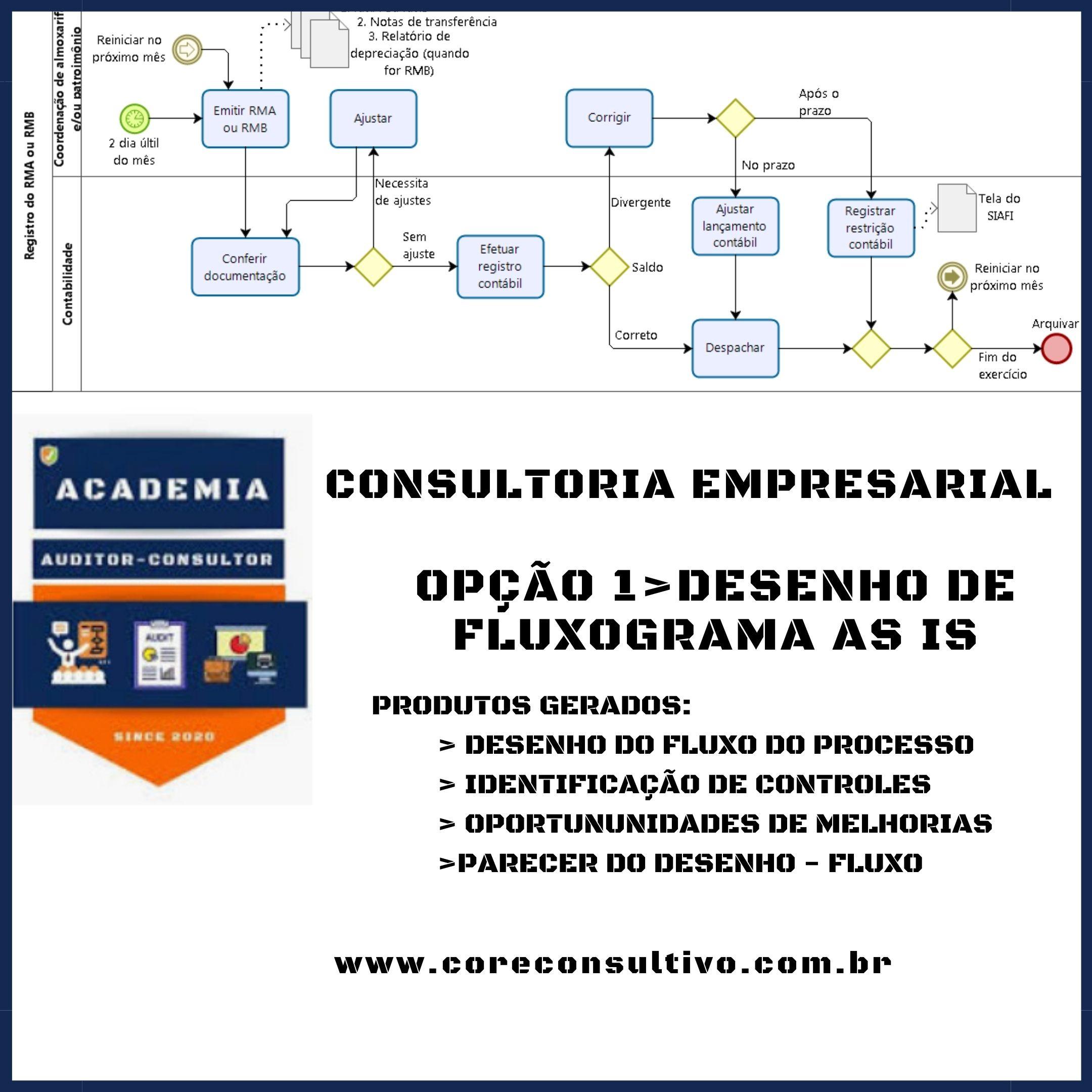 CONSULTORIA_ DESENHO FLUXOGRAMA AS IS