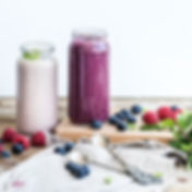 Fresh healthy smoothie with blueberries,