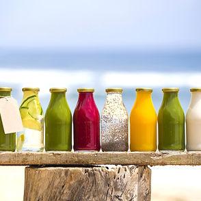 Organic cold-pressed raw vegetable juice