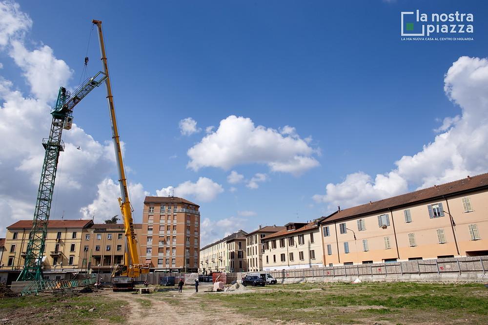 Campo lunghissimo sull'area del cantiere de La Nostra Piazza