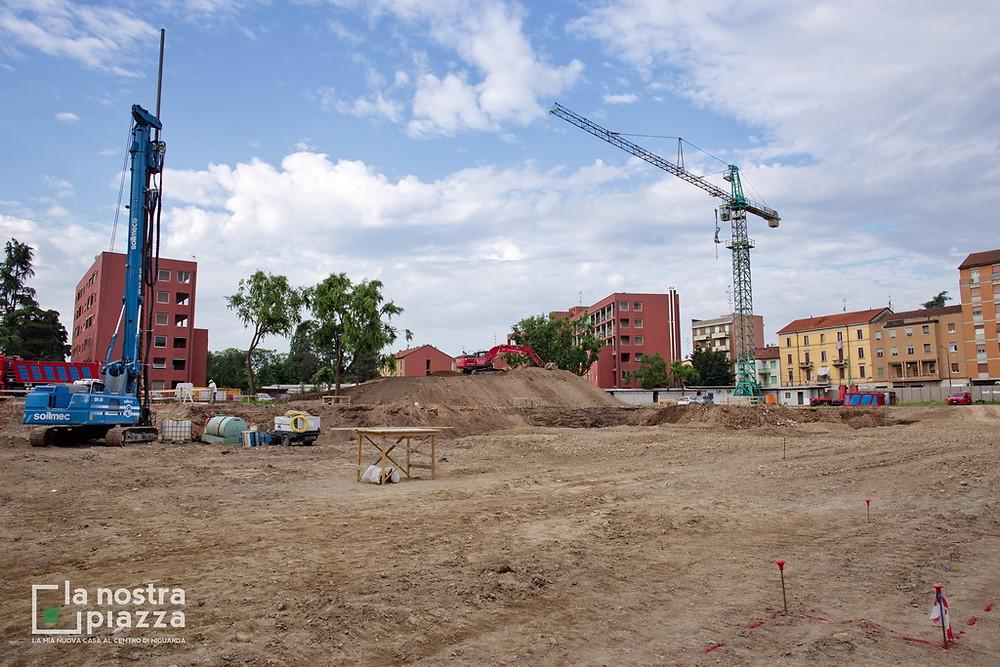 Nel cantiere de La Nostra Piazza, iniziano gli scavi e le operazioni di consolidamento