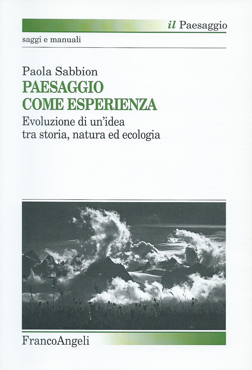 Paola Sabbion, Paesaggio come esperienza