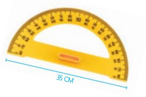 RAPPORTEUR PLASTIQUE 180°C 35CM
