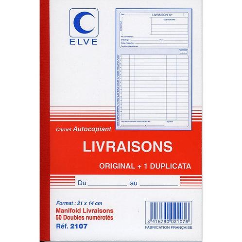 CARNET LIVRAISON