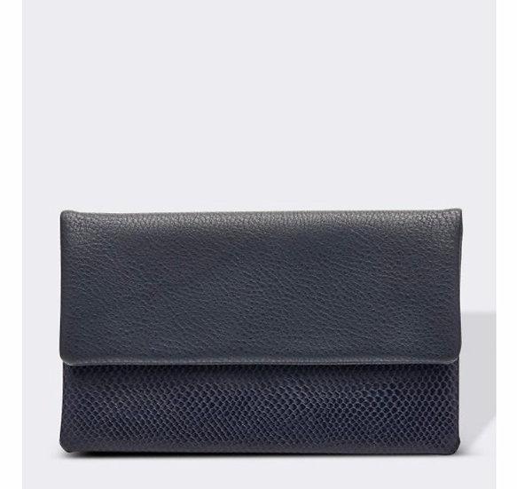 Ziggy Navy Blue & Snake Print Wallet