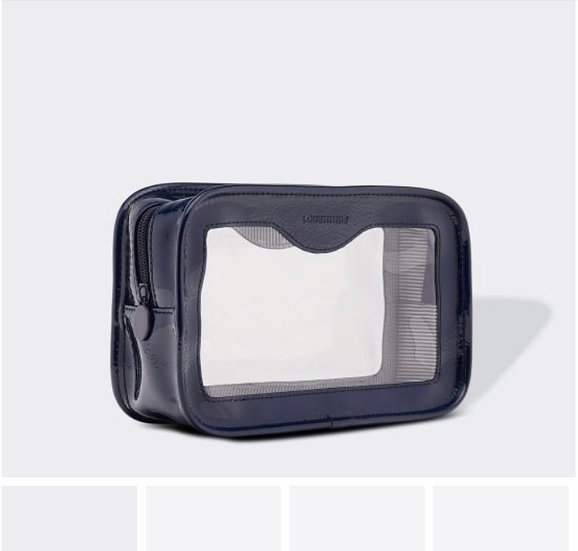 navy clear cosmetic case