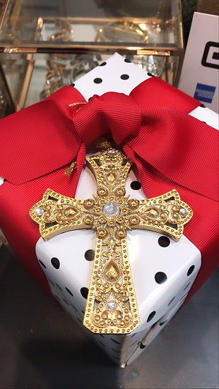 Jewelled cross mini - ornamental