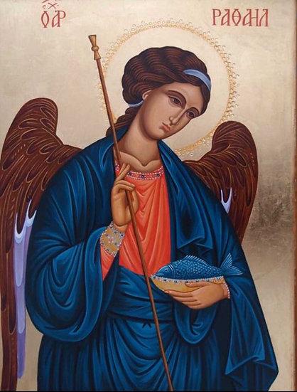 XL candle - Arch Angel Raphael