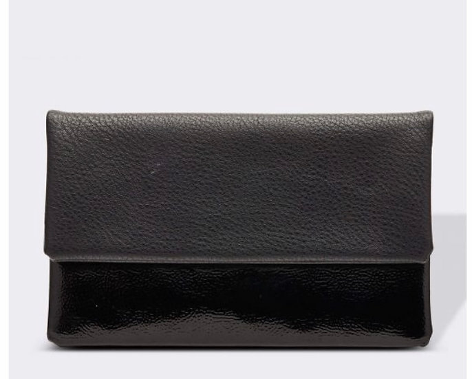Ziggy Black Patent Wallet