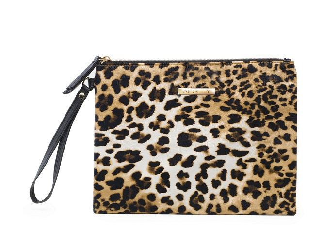 Cosmetic Case Pouch Bag Leopard Skin