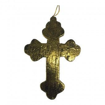 Small wooden decor cross - gold