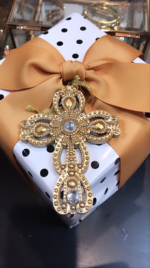 Jewelled cross mini rounded - ornamental