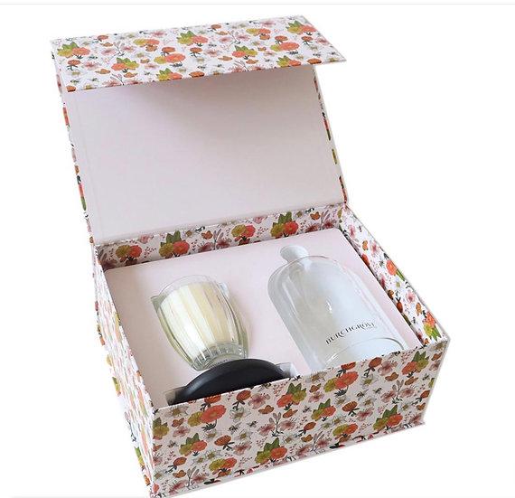 Patchouli & Bergamot candle & cloche set
