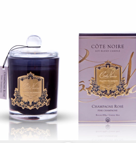 PINK CHAMPAGNE candle 450g - GOLD by Cote Noire