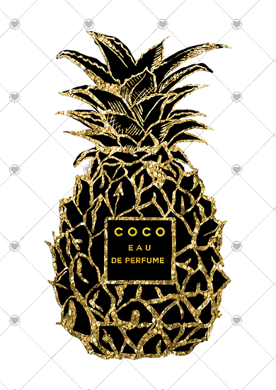 Black and gold pineapple