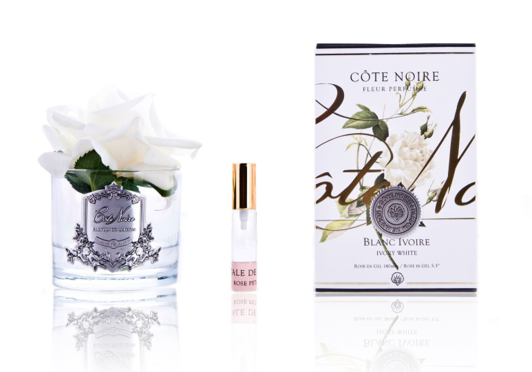 Single rose - ivory - real touch by Cote Noire