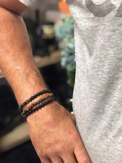 bead bracelet yellow tiger