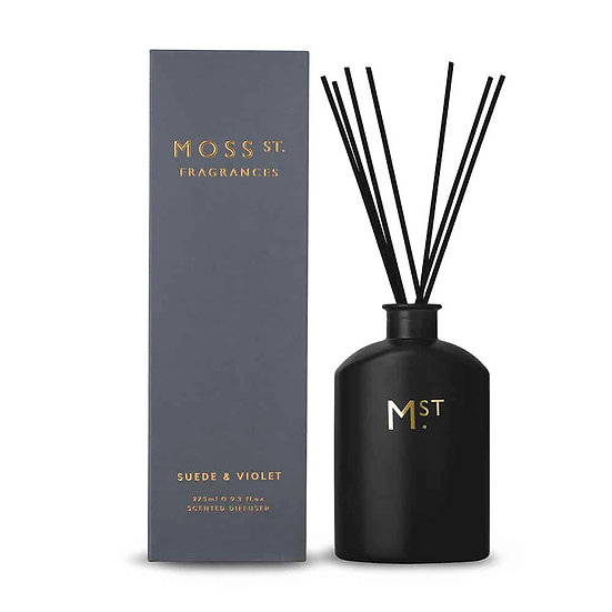 Suede & Violet Scented Diffuser - Moss St