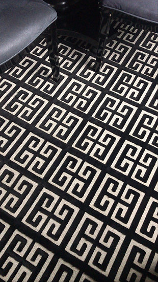 Grecian Key Black - 300 x 400