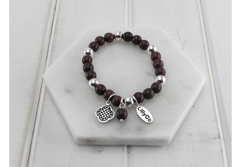 Semi-Precious Brown Stones Bracelet LillyCo