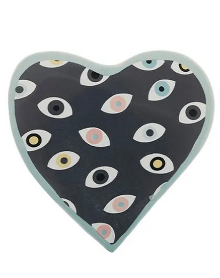 Mati heart ceramic wall hanging