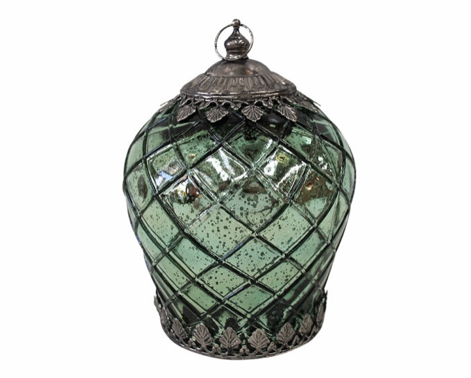 LED Lantern / Ocean / Teal  -  large