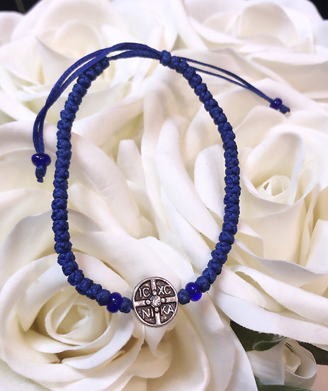 Prayer Rope Bracelet - IC XC - Blue