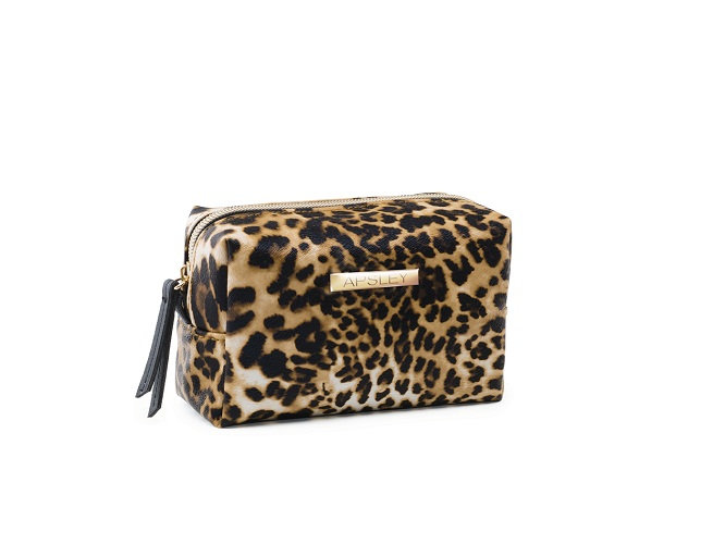 Leopard makeup purse