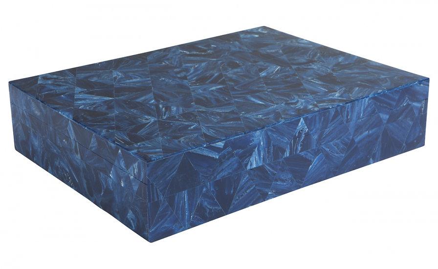Large Geometric Inlay Box Blue