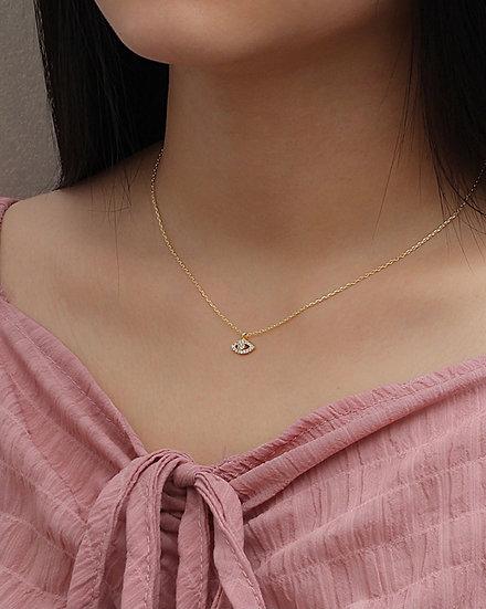 Evil eye cubic zirconia necklace