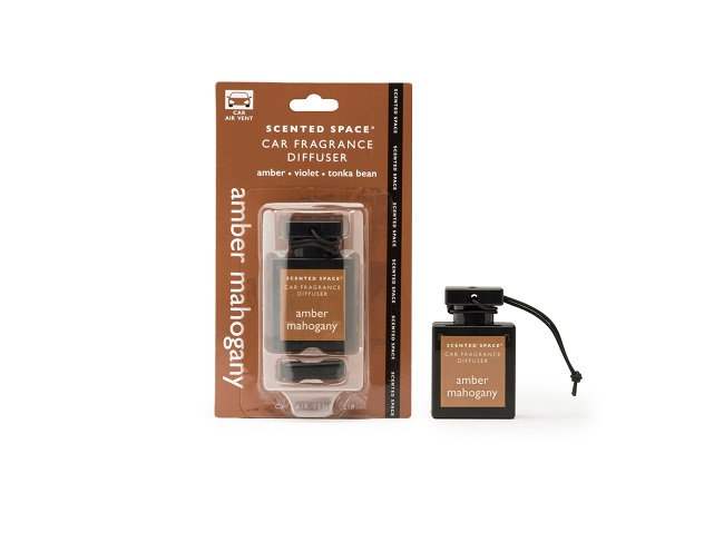 Scented Space Car Fragrance Diffuser - Amber Mahogany