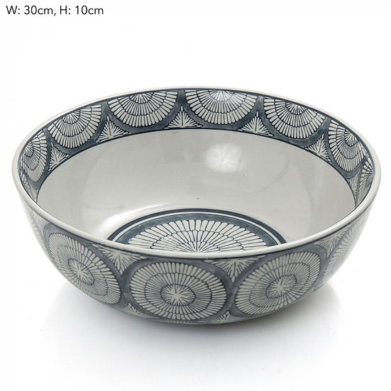 blue and white ceramic bowl joss