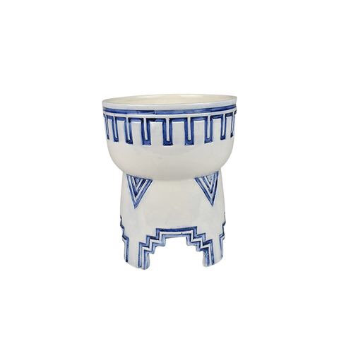 ares ceramic footed bowl