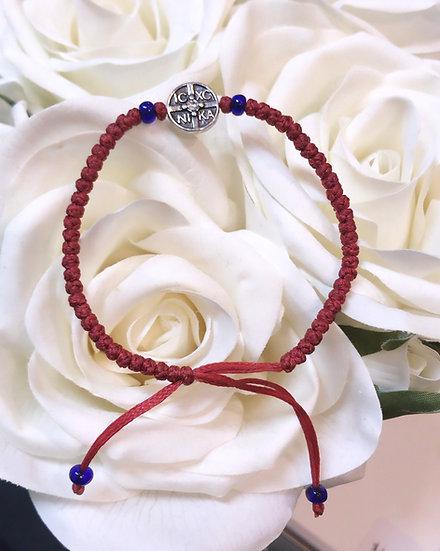 Prayer Rope Bracelet - IC XC - Red