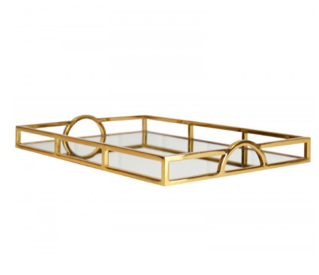 Arch Handle Tray 56cm GOLD