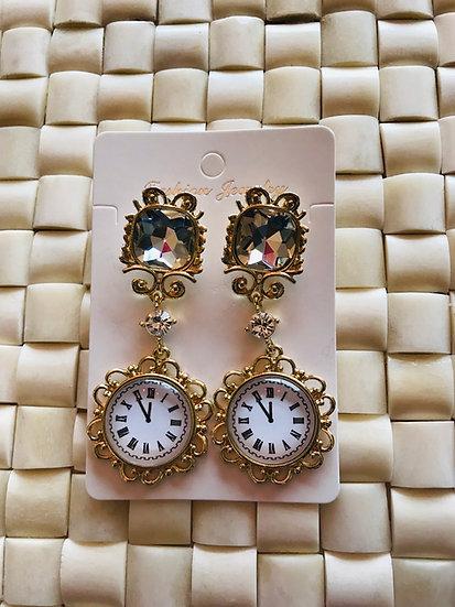 Baroque earrings gold