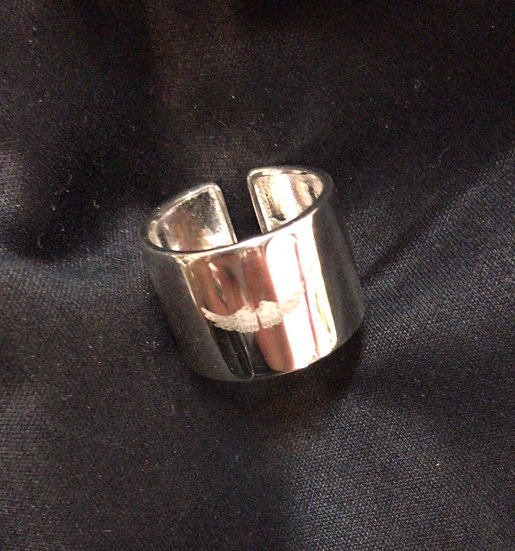 925 silver wide band ring