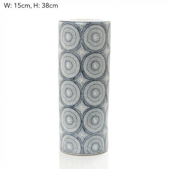 blue and white ceramic vase joss