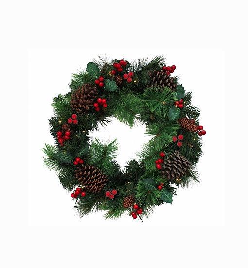 LED Christmas Wreath