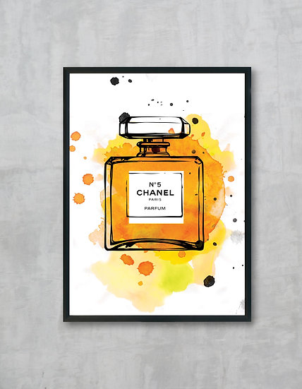 chanel print yellow
