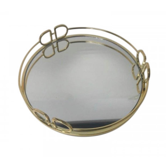 DD Round Gold Tray Small 25x25x4