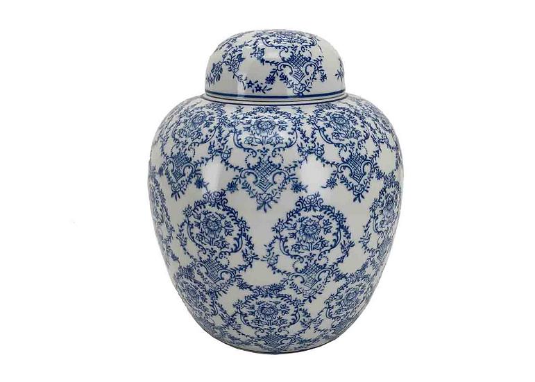 Ginger Jar - blue and white