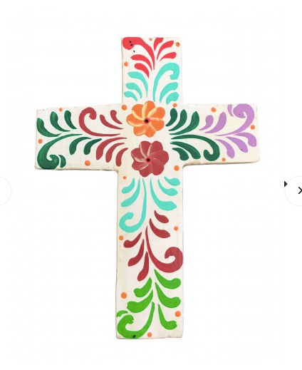 Hand Painted Cross Small Multicoloured