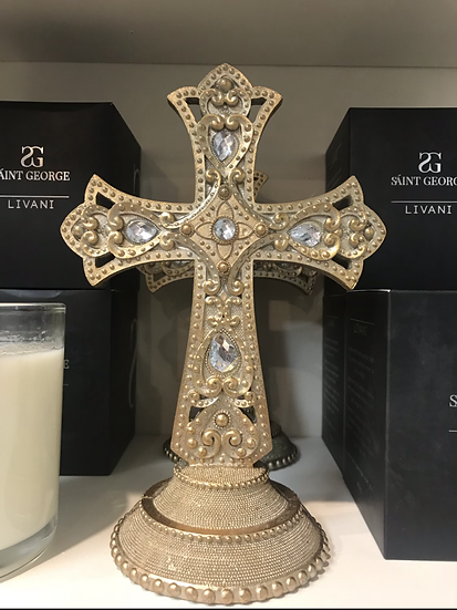 Jewelled Cross with Gold Base