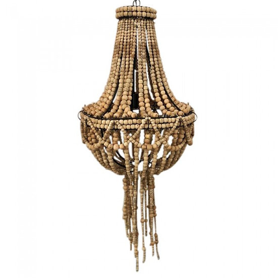 beaded chandelier tassel wooden
