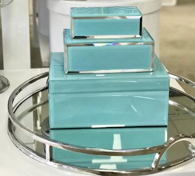 aqua jewellery boxes